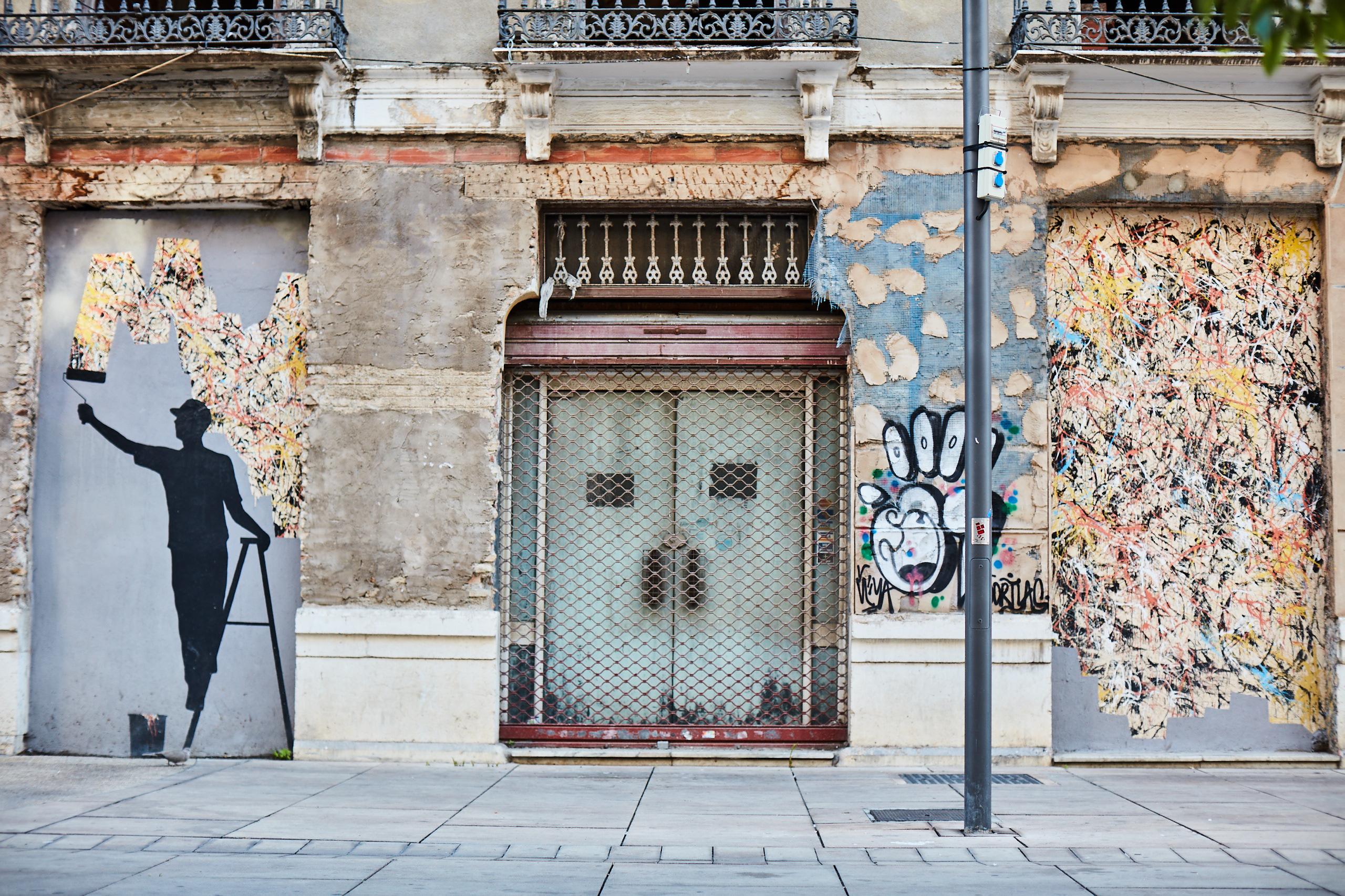 Arte urbano en el Soho de Málaga